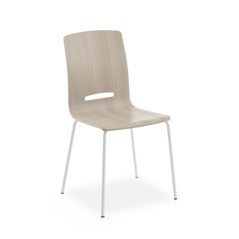 Photos 1: Point House Chair in metal and wood FLORA