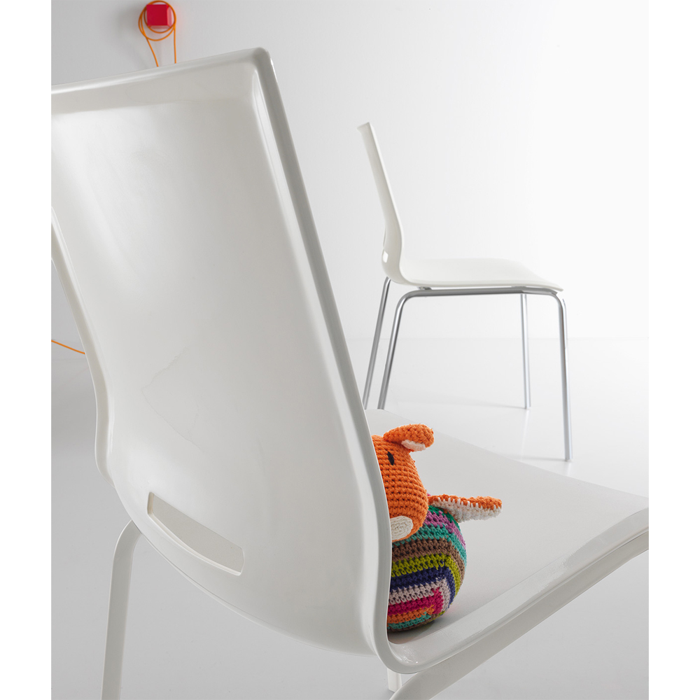 Photos 3: Point House Chair in metal and polypropylene ELENA 2