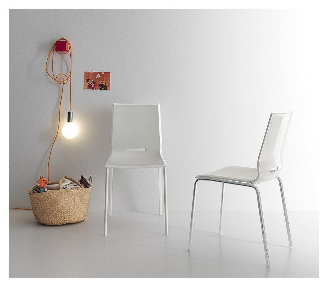 Photos 1: Point House Chair in metal and polypropylene ELENA 2