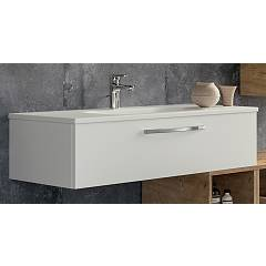 Rcr 2030/31/32 Suspended bathroom cabinet h 25 1 drawer with integrated sink - configurable Basic