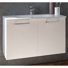 Rcr 2035/36/37 Suspended bathroom cabinet h 50 2 doors with integrated sink Basic