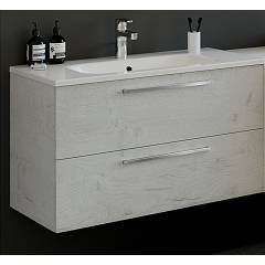 Rcr 2005/10/15 Suspended bathroom cabinet h 50 2 drawers with integrated sink - configurable Basic