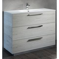 Rcr 2025/26/27 Free standing bathroom cabinet h 81 3 drawers with integrated sink - configurable Basic
