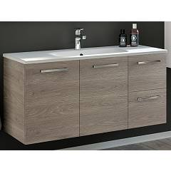 Rcr 2065 Suspended bathroom cabinet h 50 2 drawers 2 doors with integrated sink - configurable Basic