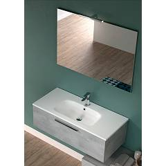 Rcr Cp041/42/43 Bathroom composition complete with washbasin with spotlight mirror drawer - configurable Basic