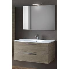Rcr Cp011/12/13 Bathroom composition complete with sink with drawers, spotlight mirror - configurable Basic