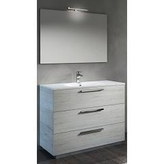 Rcr Cp016/28/29 Bathroom composition complete with sink with drawers, spotlight mirror - configurable Basic