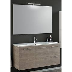 Rcr Cp049 Bathroom composition complete with sink with drawers and spotlight mirror doors - configurable Basic