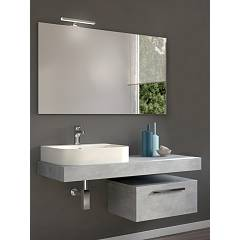 Rcr Cp027 Bathroom composition complete with washbasin with spotlight mirror drawer - configurable Basic