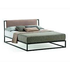 Samoa Frame Single bed | double bed with metal frame and reversible fabric headboard | faux leather - optional container Match Bedroom Space