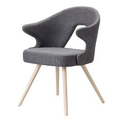 Scab You Armchair with wooden structure | metal and fabric seat | leatherette | velvet