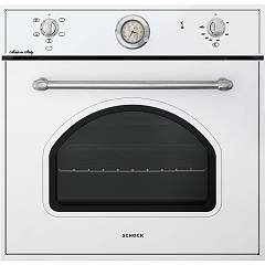 Schock Sfn5407cn Electric oven cm. 60 multifunction - white chrome knobs New England F605