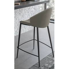 Sedit Paris Stool - metal structure and fabric seat leather | faux leather | econabuk