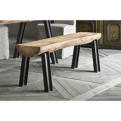 Sedit Aspen Bench in wood and steel