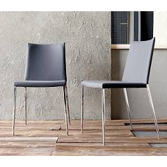 Sedit Form Metal chair with covered sitting