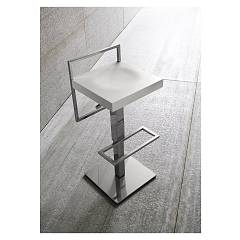 Sedit Loop Air Stool in metal and wood