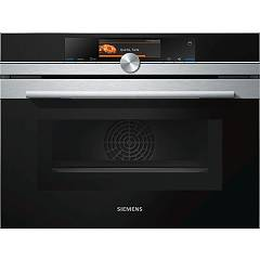 Siemens Cn678g4s6 Microwave and steam combined oven cm. 60 h. 45 - inox + black glass Iq700