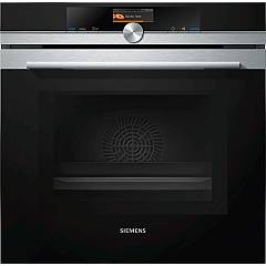 Siemens Hm676g0s1 60 cm pyrolytic microwave oven - stainless steel and black glass Iq700