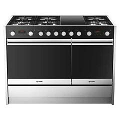 sale Smalvic 1020347500 - Less 120 Kitchen 120 Cm - Stainless Steel 6 Burner - 2 Induction Areas + 2 Electric Ovens