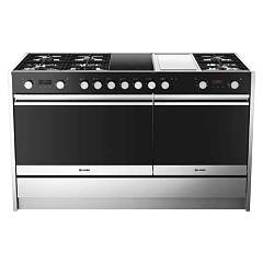sale Smalvic 1020357500 - Less 150 The Kitchen 150 Cm - Stainless Steel 6 Burner - 2 Induction Areas - 1 Fly Top + 2 Electric Ovens