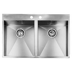 Smalvic 1013474022 Built-in sink from cm. 76 x 50 2 tanks