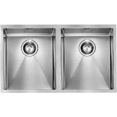 Smalvic 1013474037 Built-in sink from cm. 77 x 45 2 tanks