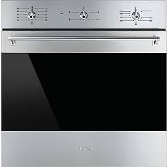 Smeg Sf6341gvxd Gas oven cm. 60 - inox certificate for the german market Classica