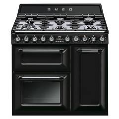 Smeg TR93BLD - VICTORIA The kitchen from the docking cm. 90 black - 3 electric ovens + 6 burner certificate for the german market