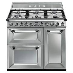 Smeg TR93XD - VICTORIA The kitchen from the docking cm. 90 - stainless steel- 3 electric ovens + 6 burner certificate for the german market