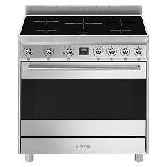 Smeg C9imx9 Kitchen from accosto cm. 90 inox - 1 electric oven + induction certified for the german market Sinfonia