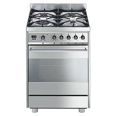 Smeg C6GVXD8 - SINFONIA The kitchen from the docking cm. 60 stainless-steel - 1 gas oven + 4 burners certificate for the german market