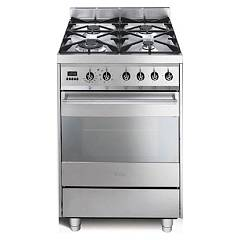 Smeg C6gmxd8 Kitchen from accosto cm. 60 inox - 1 electric oven + 4 burners certified for the german market Sinfonia