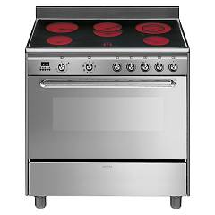 Smeg Scd90cmx9 The kitchen from the docking cm. 90 - stainless steel- 1 electric oven + ceramic hob electric certificate for the german market Concerto