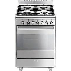 Smeg SCD61GVX9 - CONCERT The kitchen from the docking cm. 60 stainless-steel - 1 gas oven + 4 burners certificate for the german market
