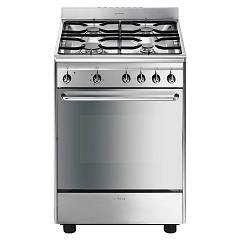 Smeg Scd60emx9 Kitchen from accosto cm. 60 inox - 1 electric oven + 4 burners certified for the german market Concerto