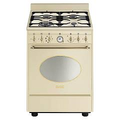 Smeg Co68gmpd9 Kitchen from accosto cm. 60 panna - 1 electric oven + 4 burners certified for the german market Nostalgie