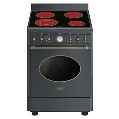 Smeg Co68cma8 Kitchen from accosto cm. 60 anthracite - 1 electric oven + electric ceramic certified for the german market Coloniale
