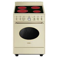 Smeg Co68cmp9 Kitchen from accosto cm. 60 panna - 1 electric oven + electric ceramic certified for the german market Coloniale