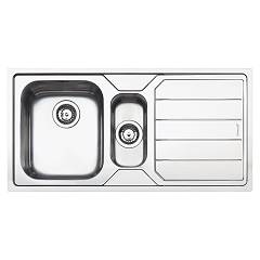 Smeg Lfb102 Built-in sink cm. 101 inox - 1 tank and 1/2 + reversible dropped certified for the german market Design