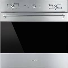 Smeg Sf6341gvx Oven flush-mounted vented gas cm. 60 - stainless steel Classica