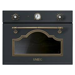 Smeg Sf4750mcao Oven flush-mounted combined microwave cm. 60 - h. 45 - anthracite Cortina