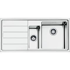 Smeg Lft102s Built-in sink cm. 100 - inox brushed 1 bathtub and 1/2 right + left dropped Mira