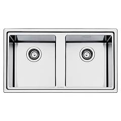 Smeg Lft862 Built-in sink cm. 86 - inox brushed 2 tanks Mira