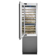 Smeg Wi66ls Wine cellar cm 60, h 207, lt 287, 54 - stainless steel and glass