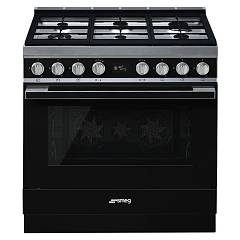 Smeg Cpf9gmbl Kitchen from accosto cm. 90 x 60 - black Portofino