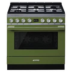 Smeg Cpf9gmog Kitchen from accosto cm. 90 x 60 - olive green Portofino