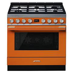 Smeg Cpf9gmor Kitchen from accosto cm. 90 x 60 - orange Portofino