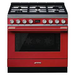 Smeg Cpf9gmr Kitchen from accosto cm. 90 x 60 - red Portofino