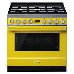 Smeg Cpf9gmyw Kitchen from accosto cm. 90 x 60 - yellow Portofino
