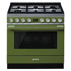 Smeg PORTOFINO - CPF9GPOG The kitchen from the docking cm. 90 x 60 - olive green pyrolysis